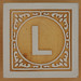John Crane Classic Block Letter L
