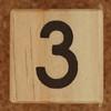 Calendar Wood Block number 3