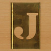 Brass Stencil Letter J