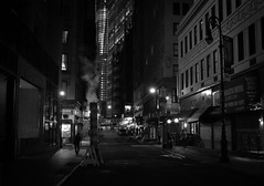 New York City Night - Street in the Financial District photo by Vivienne Gucwa