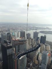 ThyssenKrupp Elevator - One World Trade Center Escalator Hoisting photo by TKE_Americas