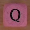 Coloured bead letter Q