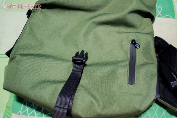 Crumpler Flock of Horror's concealed front pocket for easy access