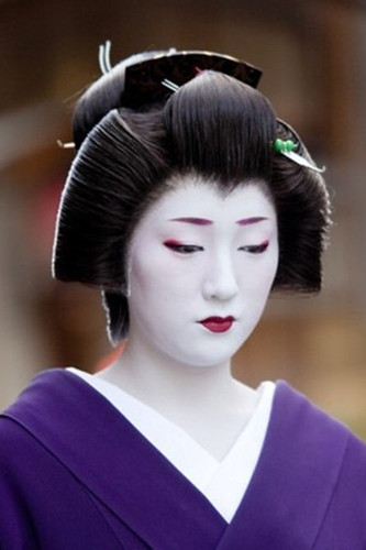 gelled hairstyles : Different Hairstyles worn by Maiko (apprentice Geisha) during their ...