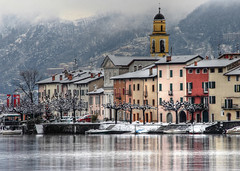 LAKE OF LUGANO SWITZERLAND - WINTER VERSION photo by elvetino and dide
