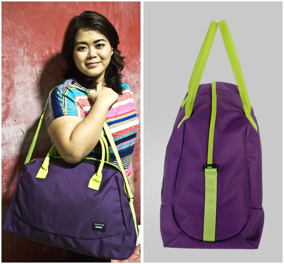 Crumpler Ultimate Exit bag in Purple and Snot