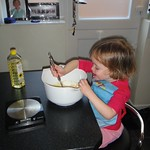 Amy mixing the yorkshire puddings<br/>11 Nov 2012