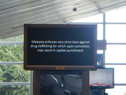Sign in Kuala Lumpur Airport