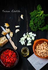 Tuscan Ribollita ingredients & recipe card photo by lisa c shen