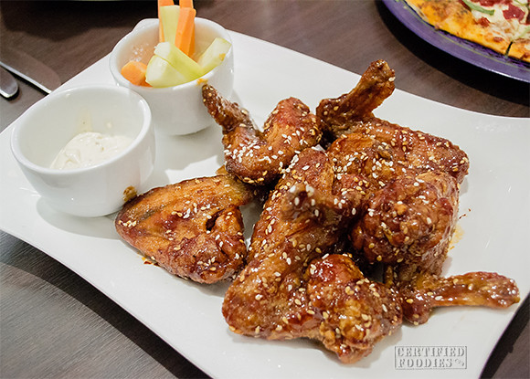 Spicy Buffalo Wings with Blue Cheese Dip at Cafe 1771