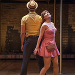 Travis Porchia (Charlie) and Tiffany Topol (Charity) in SWEET CHARITY at Writers Theatre. Photo by Michael Brosilow.