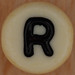 bead letter R