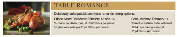 Intercontinental Manila Valentine's Day promos
