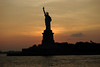 Lady Liberty at sunset, New York, NY photo by cpcmollet