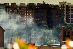 Smoke in the neighborhood photo by Diego Cambiaso