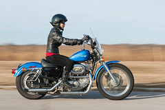 Independence for Meredith on her '97 Harley Sportster photo by RobNYCity