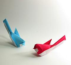 singing bird photo by paper folding artist redpaper