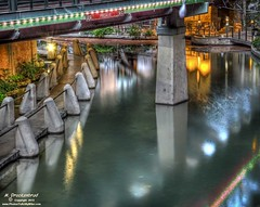 San Antonio River Walk under the Presa Street bridge photo by PhotosToArtByMike