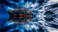 Blue Ships photo by Charlie Stinchcomb