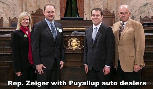 Rep. Zeiger with Puyallup Auto Dealers