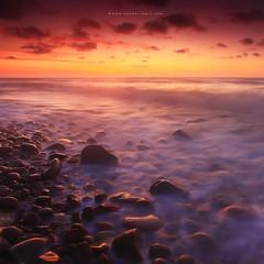 Beautiful Sunset at Tempurung beach, Kuala Penyu photo by Fakrul J
