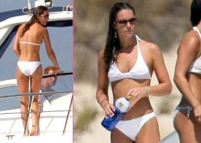 Kate Middleton white bikini