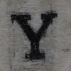 Wooden bead letter Y