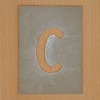 Waterproof card stencil letter c