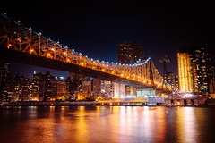 Queensboro Bridge at Night - New York City photo by Vivienne Gucwa
