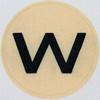 Vintage Sticker Letter w
