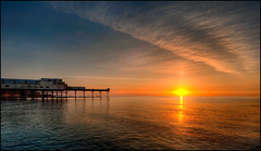 Aberystwyth Pier Sunset photo by JasonPC