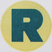 Vintage Sticker Letter R