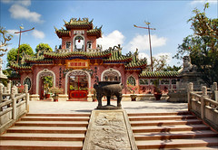 Phuc Kien Hall in ancient Hoi An, unique architectural style photo by atsjebosma