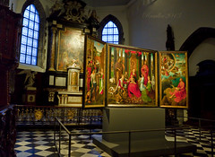 The triptych of St John the Baptist and St John the Evangelist; Mystic Marriage of St. Catherine (Hans Memling,1479) - Old St. John's Hospital, Bruges photo by Matilda Diamant