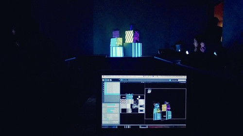 Taking a projection mapping class at Harvestworks.  This is my first masterpiece.