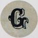 Vintage Sticker Letter G