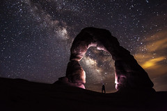 Self Portrait - Delicate Arch at Night [Explored 4-15-13] photo by (OLD page) Jacob W. Frank