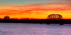 sunset over the Ohio River photo by michaelboylan146
