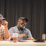 First rehearsal for EAST TEXAS HOT LINKS at Writers Theatre. Photo by Joe Mazza—brave lux.