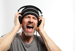Man Listening To Music With Headphones photo by Steven Coutts