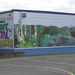Birkdale Primary School wall mural