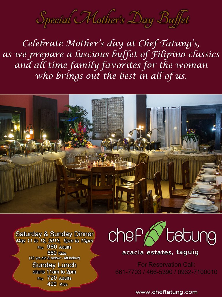 Chef Tatung's Mother's Day buffet