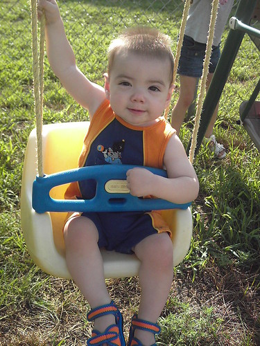 Damien swinging
