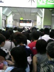 大混雑の駅