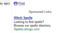 Funny GMail adwords