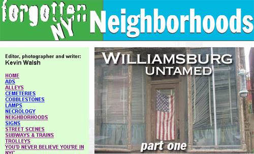 Forgotten NY--Williamsburg