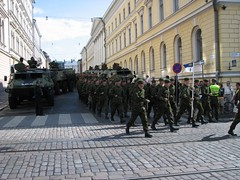 Military Parade marching by