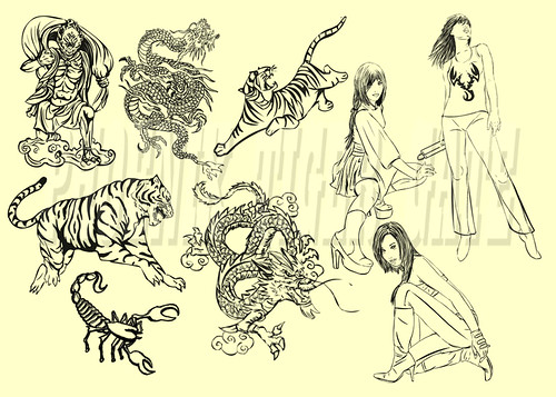 Phoenix Tiger Gate Sketches