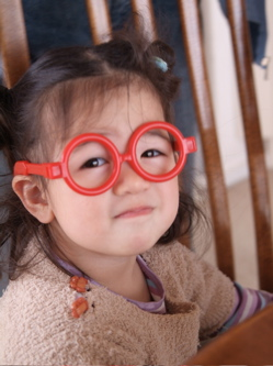 daughter with glasses