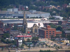 Tilt Shift Mini Fake: Pittsburgh Church Building